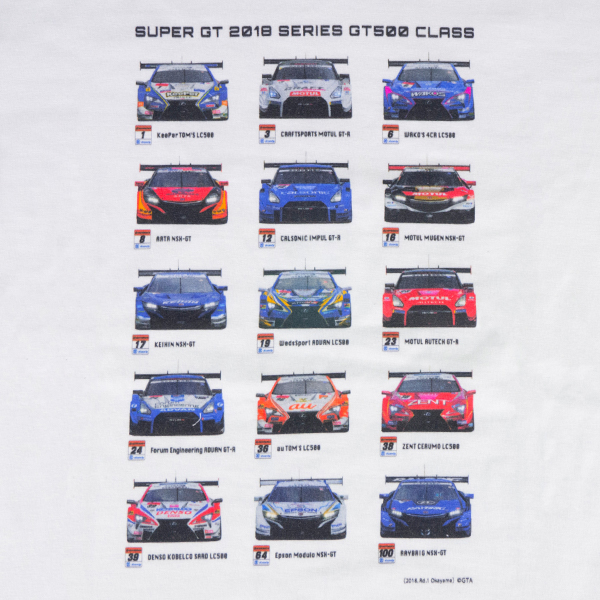 2018 GT 500 Tシャツ ALL