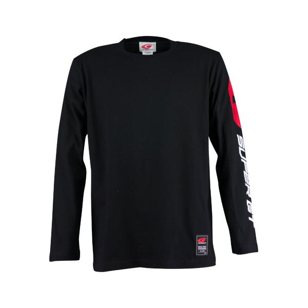 ロングスリーブTシャツ(ブラック/Lサイズ)