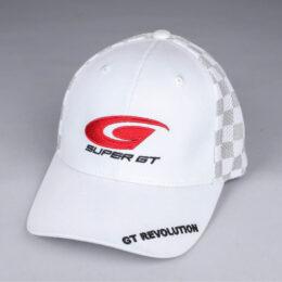 SUPER GTチェッカーメッシュキャップ(ホワイト)