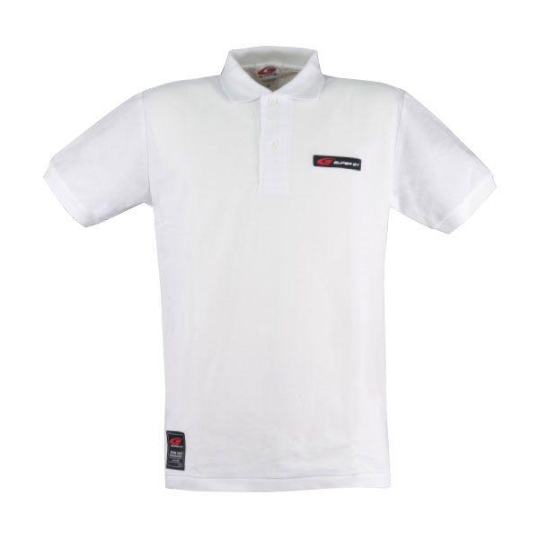 SUPER GT ポロシャツ(ホワイト/Lサイズ)