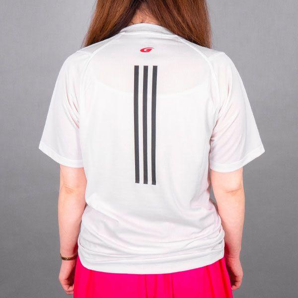 adidas バック3ストライプスTシャツ(ホワイト/2XOサイズ)