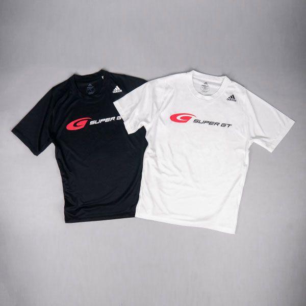 adidas バック3ストライプスTシャツ(ブラック/Sサイズ)