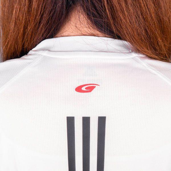 adidas バック3ストライプスTシャツ(ホワイト/Sサイズ)