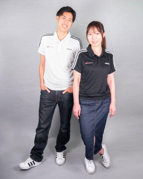 adidas 3ストライプスポロシャツ(ブラック/Oサイズ)