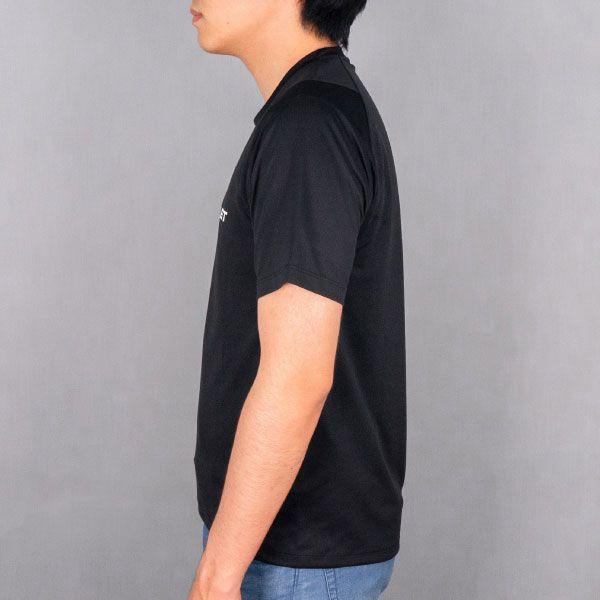 adidas バック3ストライプスTシャツ(ブラック/Mサイズ)