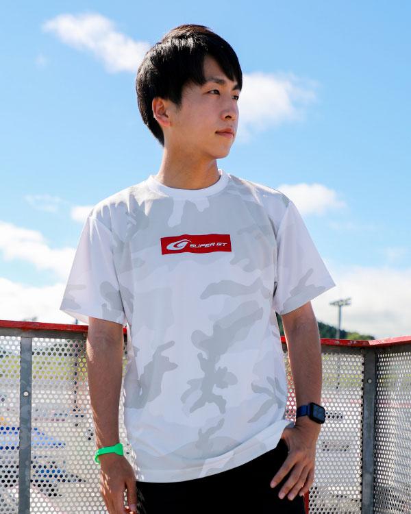 SUPER GT ドライカモフラTシャツ2(ホワイト/XLサイズ)