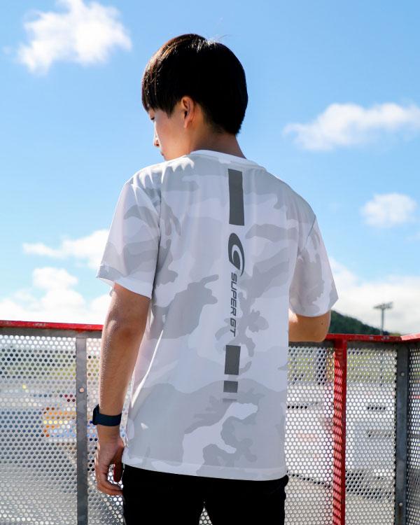 SUPER GT ドライカモフラTシャツ2(ホワイト/Mサイズ)