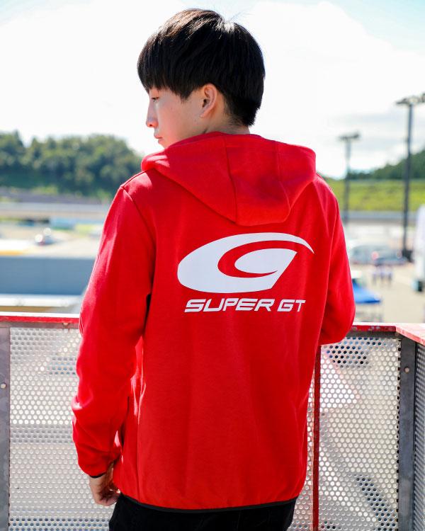 SUPER GT ドライスウェットパーカー2(レッド/Lサイズ)