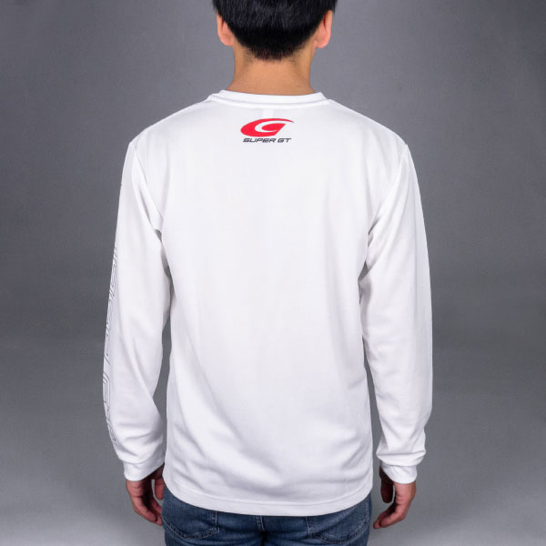 SUPER GT ドライロングスリーブTシャツ(ホワイト/Mサイズ)