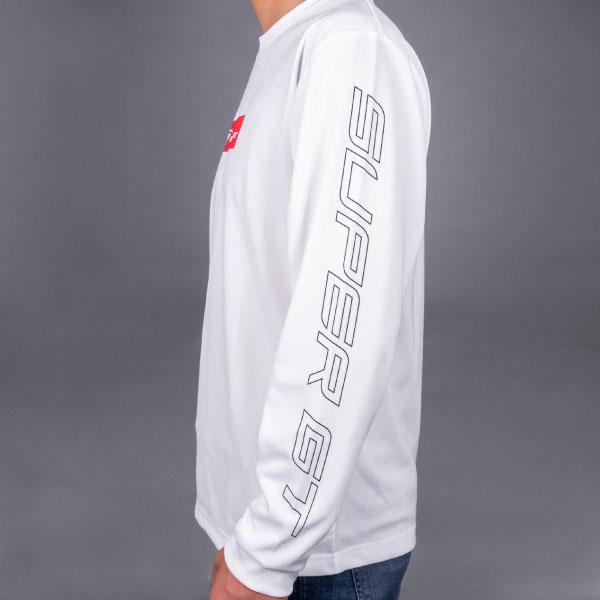 SUPER GT ドライロングスリーブTシャツ(ホワイト/Lサイズ)