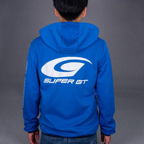 SUPER GT ドライスウェットパーカー2(ブルー/Lサイズ)