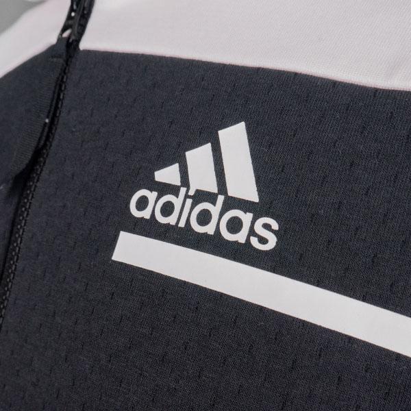 adidas フルジップフーディー(ホワイト/Mサイズ)