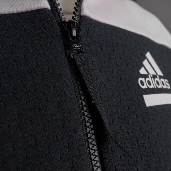 adidas フルジップフーディー(ホワイト/XOサイズ)