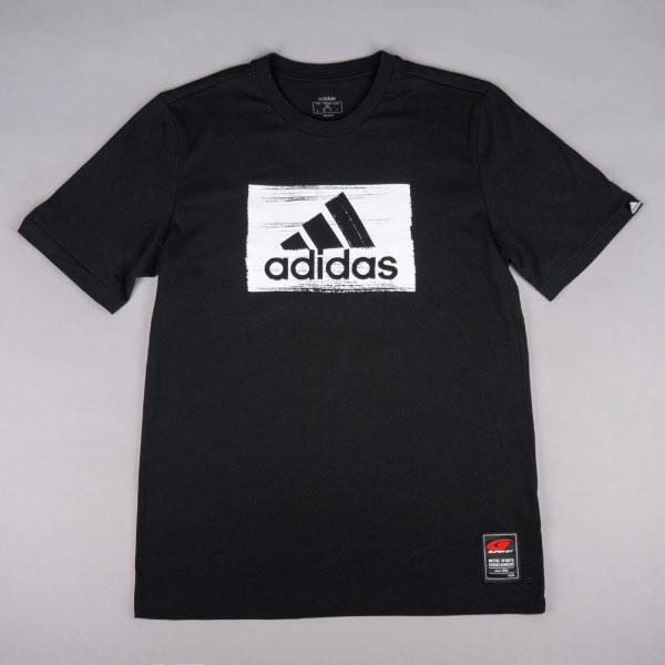 adidas ブラシストロークグラフィックTシャツ(BK/XOサイズ)