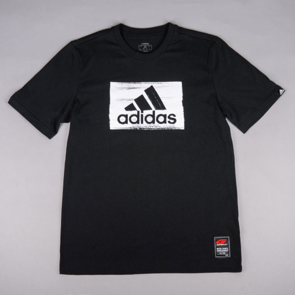 adidas ブラシストロークグラフィックTシャツ(BK/Mサイズ)