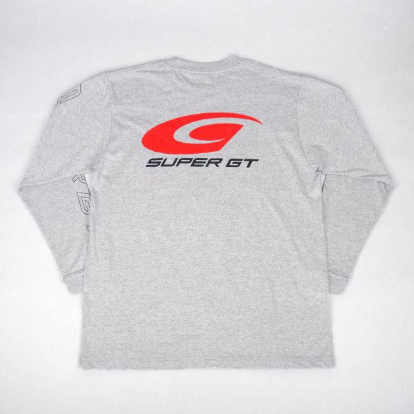 SUPER GT スタンダードロングスリーブTシャツ (杢グレー/Lサイズ)