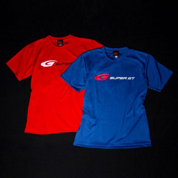 SUPER GT ドライTシャツ(レッド/Lサイズ)