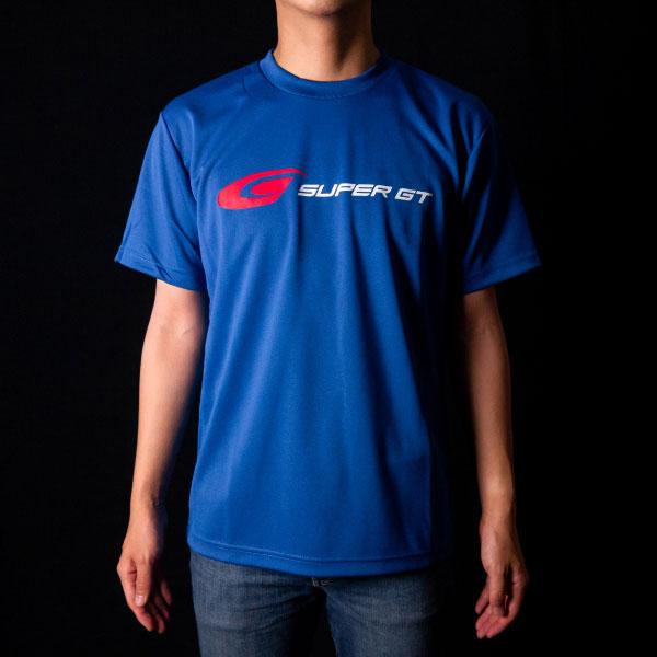 SUPER GT ドライTシャツ(ブルー/Lサイズ)