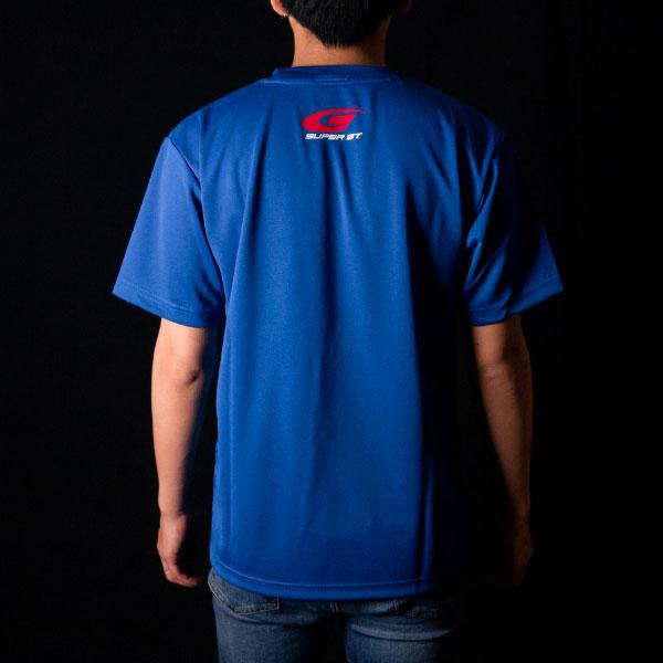 SUPER GT ドライTシャツ(ブルー/XLサイズ)