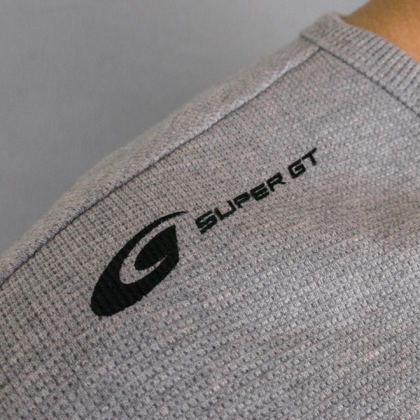 SUPER GT ワッフルTシャツ (グレー/XLサイズ)