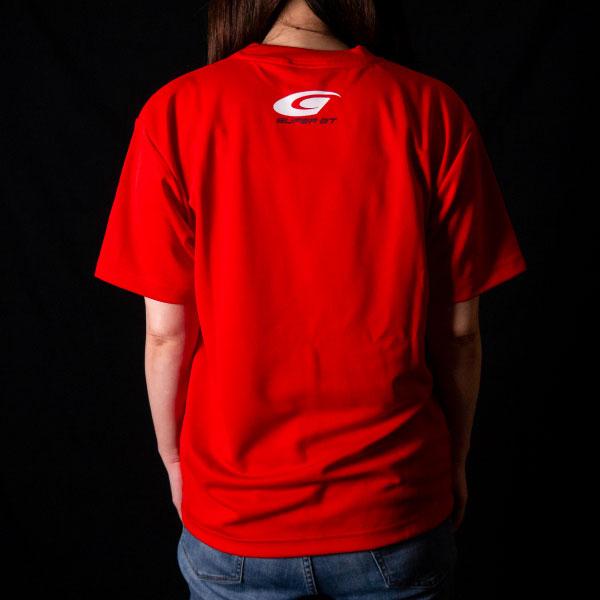 SUPER GT ドライTシャツ(レッド/XLサイズ)
