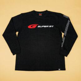 SUPER GT スタンダードロングスリーブTシャツ (ブラック)