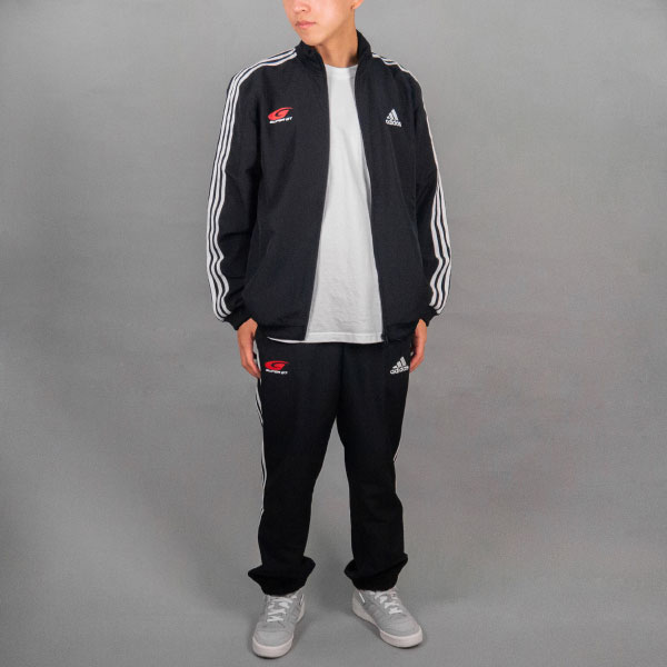 adidas 3ストライプストラックスーツ(XOサイズ)