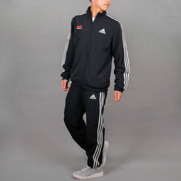 adidas 3ストライプストラックスーツ(Mサイズ)